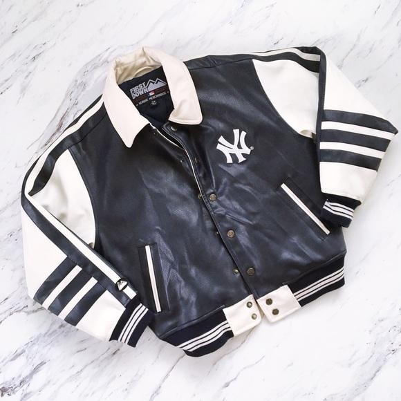 cf6b5187f Vintage New York Yankees Leather Bomber Jacket